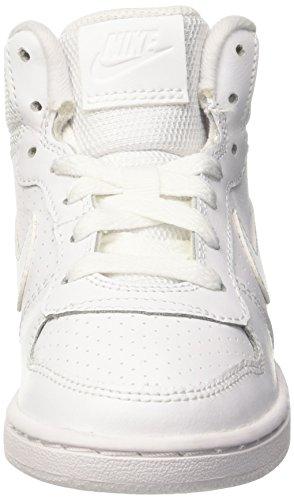 Nike Court Borough Mid (Ps), Zapatillas de Baloncesto Niños Blanco (White / White-White)