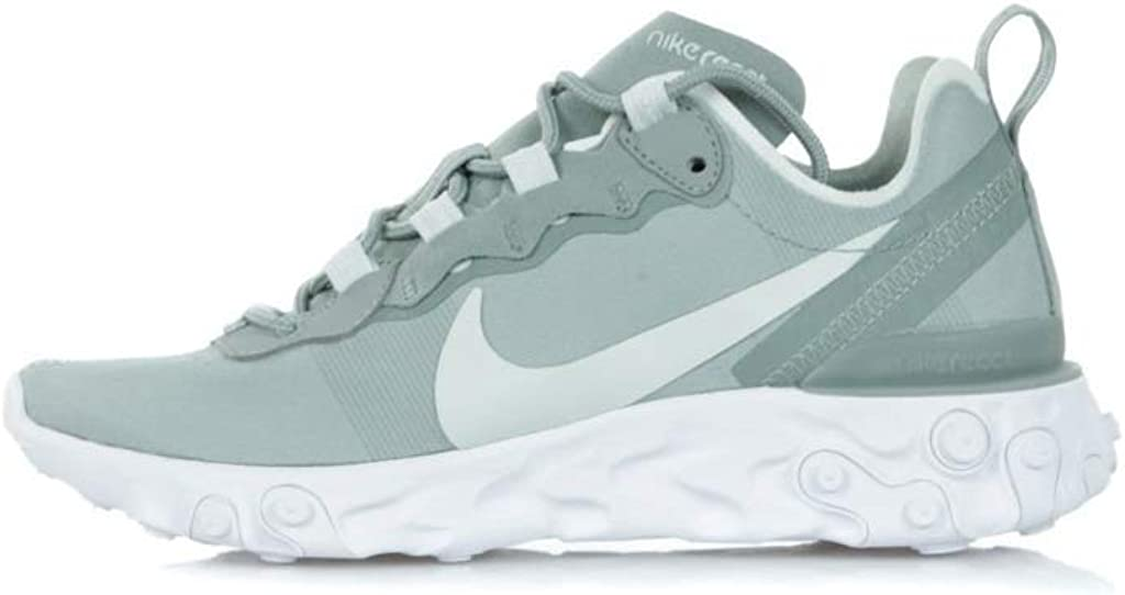 Nike Women's W React Element 55 Track & Field Shoes Multicoloured Mica Green Light Silver White 300 4MOEex