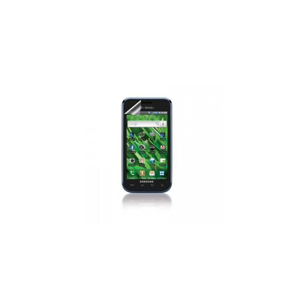 ScreenWhiz HD Anti Glare Screen Protectors for Samsung Vibrant Galaxy S T959   3 Pack   Retail Packaging   Black