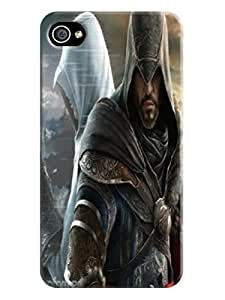 Cool Assassin's Creed fashionable Design Plastic TPU Case Cover for iphone 4/4s