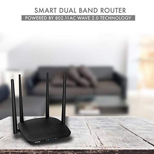Tenda AC5 AC1200 Smart Dual-Band WiFi Router (Black)