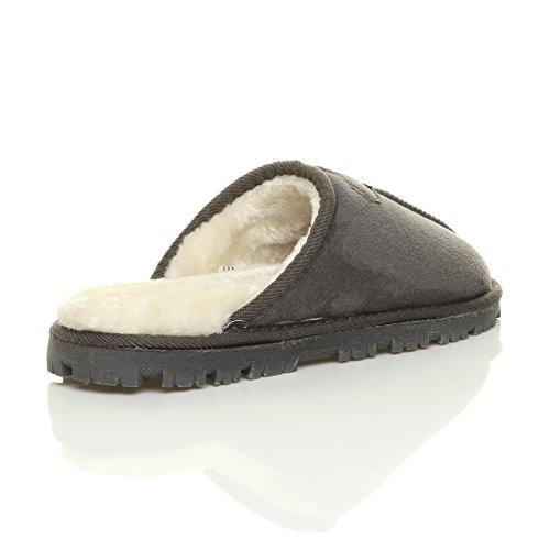 Ajvani - Zapatillas de estar por casa para mujer Mens Grey