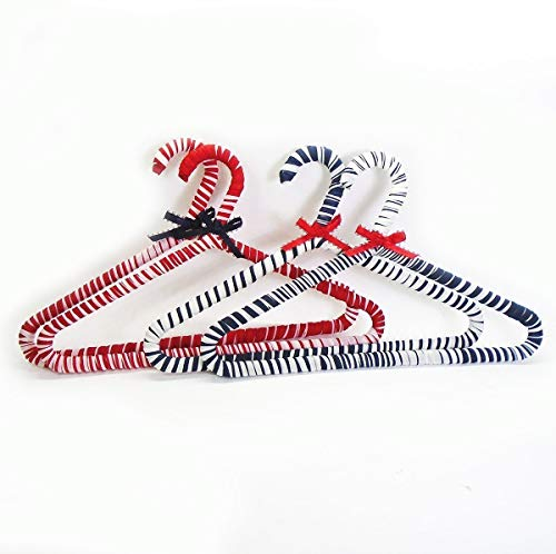Nautical Nursery Fabric Covered Hangers Red White Blue by Fabric Twist