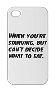 When you're starving, but can't decide what to eat. Iphone 5-5s plastic case