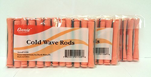 3 Packs of Annie Cold Wave Rods-Long #1106 (12 Pieces per Pack)