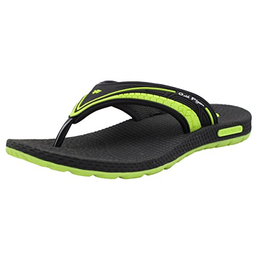 GP Simplus Men Women Light Weight High Bounce Comfort Outdoor/Water Flip Flops, Breathable Sole 8502 Green With Arch Support