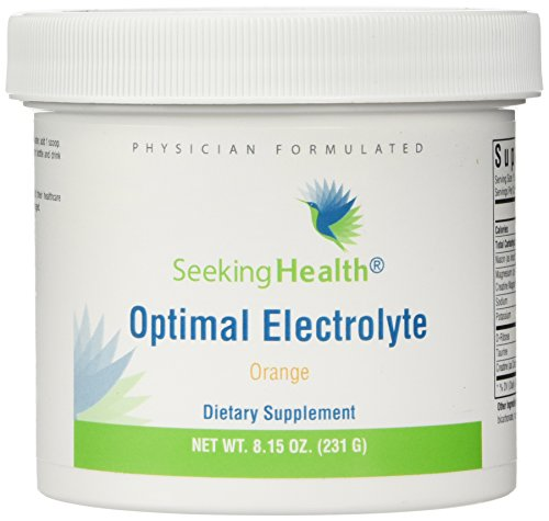 Optimal Electrolyte | Orange Flavor | 30 Powder Servings | Provides Key Nutrients In An Easy-To-Use Powder For Mix In Juice or Water | Non-GMO | Soy-Free | Physician Formulated | Seeking Health