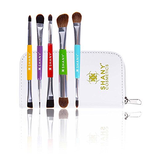 SHANY 5 Piece Double Sided Essential Brush Set with Travel P