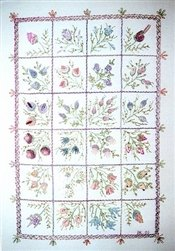 A Case of Buds - DK Designs Brazilian Embroidery pattern & fabric #3847