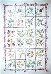 Brazilian Embroidery Design - A Case of Buds - DK Designs Brazilian Embroidery pattern & fabric #3847