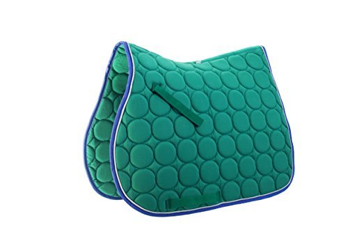 Roma Circle Quilt AP Saddle Pad Green/White/Purple