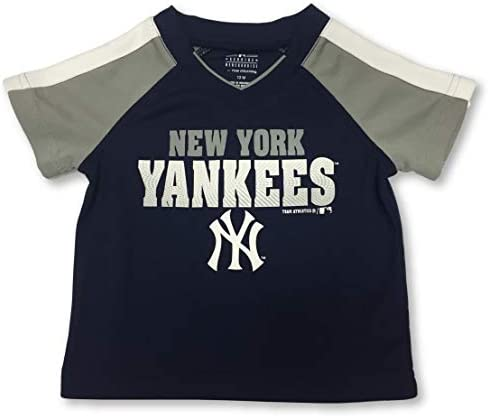 New York Yankees Boy's Toddler V-Neck Dri Fit Jersey