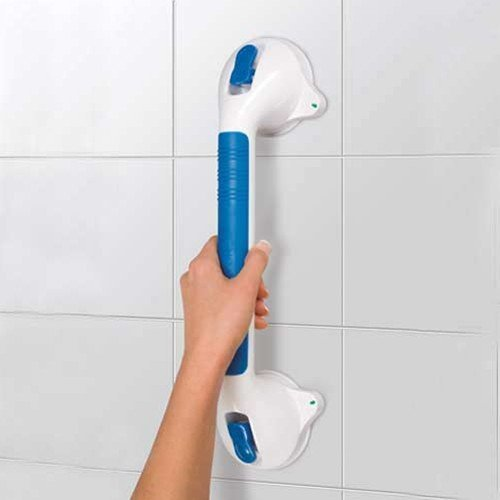 MareLight Strong Suction Ultra Grip Bathroom Shower Wall 16' Suction Grab Safety Grab Rail Balancing Bar with Safety Indicators- Provides Extra Stability in Your Home