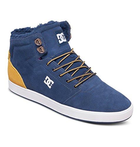DC Shoes Men's Crisis Winter Hi Top Shoes Navy/Gold