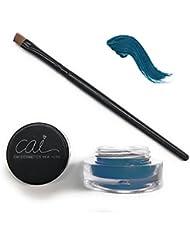 Cai Cosmetics Stay All Day Waterproof Gel Eyeliner & Brush 2 Piece Set (Navy Blue)