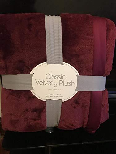 By Berkshire Classic Velvety Plush Blanket Windsore Wine Full/Queen 90