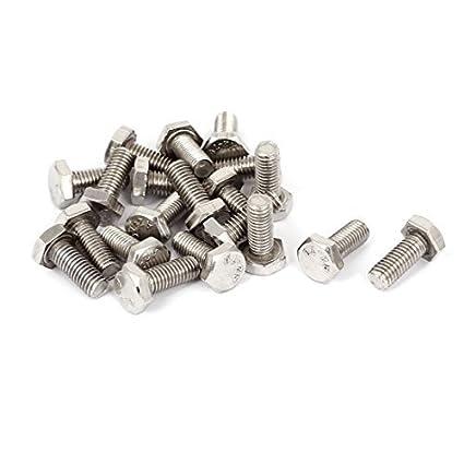 M8x20mm tornillos de cabeza hexagonal de acero inoxidable ...