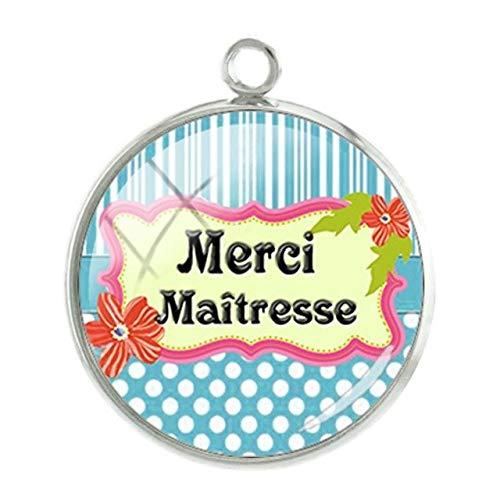 Cufflinks Handmade Onyx - Pendants -1Pc Merci Maitresse Heart Charms Pendants Mother's Day 20Mm Glass Cabochon Dome Handmade Girl Women Gift Jewelry - Ct279