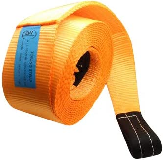 DiversityWrap 13.5T Sangle de remorquage Heavy Duty Corde de remorquage Sangle de remorquage Treuil de 4/ x 4/ Offroad Orange