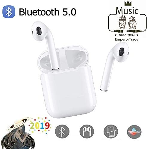 Wireless Earbuds Bluetooth Headsets Headphones True Wireless Earphones Stereo Sports Earphone with Charging. White