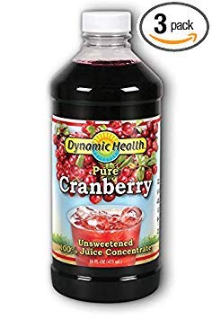 Dynamic Health 100 Percent Pure Cranberry Juice Concentrate, 16 Ounce -- 3 per case. (Dynamic Health Cranberry Juice Concentrate 16 Oz)