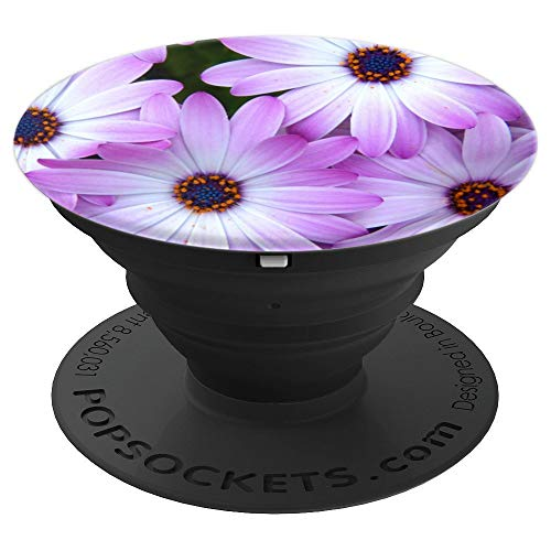(Daisy Pop socket Purple Floral Design Beautiful Flower - PopSockets Grip and Stand for Phones and Tablets)