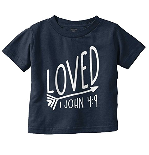 Brisco Brands Loved 1 John 4 9 Christian Shirt Jesus Christ Religious Gift Toddler Infant T Jesus Toddler Shirt
