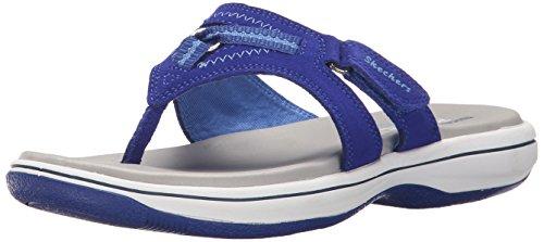 Skechers Bayshore Flip Flop Multicolor - Navy/White