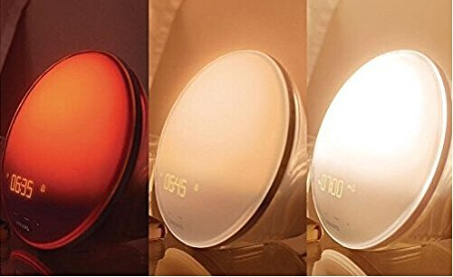 Philips Wake-up Light HF3550 White With Colored Sunrise Simulation