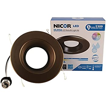 Amazon.com: NICOR Lighting DLR56-3012-120-3K-OB 5-6 In. Dimmable ...