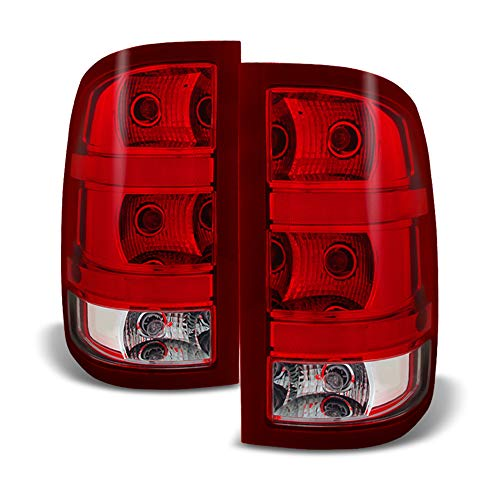 (ACANII - For [Plug & Play] 2007-2013 GMC Sierra 1500 2500 3500HD Tail Lights Lamps Left+Right)
