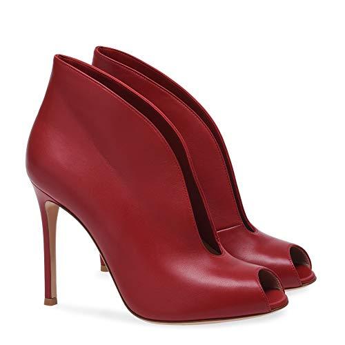 Sera Pelle Sandalo Stiletto Nozze Tacco HNBoots Albicocca Stivali red Nero Scarpe Caviglia Tacchi Rosso Donne alto Pwwxtqf5z