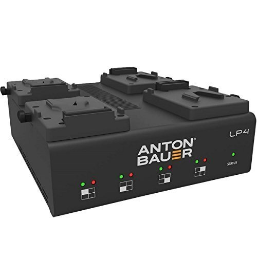 Anton Bauer LP4 Low Profile Quad V-Mount Priority-Based Simultaneous 4-Position Battery PowerCharger with LED Display by Anton Bauer