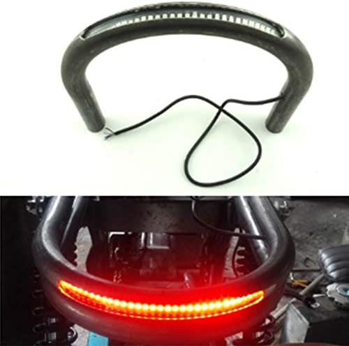 WOVELOT Modified Cafe Racer Universal Sitzrahmen Reifen Brat Loop mit LED Bremse Blinklicht f/ür Cb Xs
