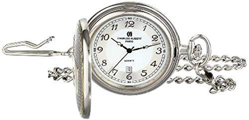 Charles-Hubert, Paris 3554 Two-Tone Quartz Pocket Watch from CHARLES-HUBERT PARIS