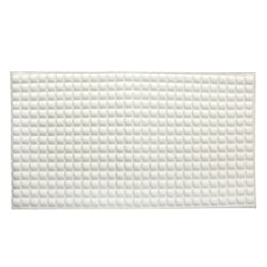 SlipX Solutions Cream Pillow Top Plus Safety Bath Mat Provides the Very Finest in Cushioned Comfort and Slip-Resistance (400+ Air-Filled Pockets, 200 Suction Cups, Natural Rubber)