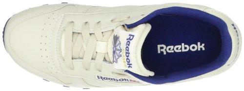 Womens Reebok Sports LTHR Shoes Beige Ecru Navy CL d1rqwBx71