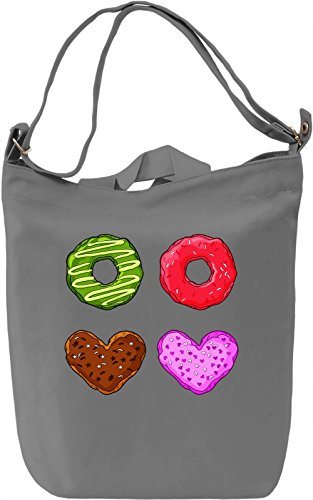 Donuts Lover Borsa Giornaliera Canvas Canvas Day Bag| 100% Premium Cotton Canvas| DTG Printing|