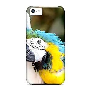 High Quality 7AM Two Parrots Skin Case Cover Specially Designed For Iphone - 5c