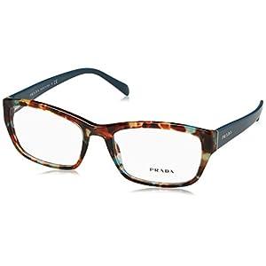 Prada PR18OV Eyeglass Frames NAG1O1-54 - Havana Spotted Blue