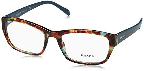 Prada PR18OV Eyeglass Frames NAG1O1-54 - Havana Spotted - Women Prada Glasses