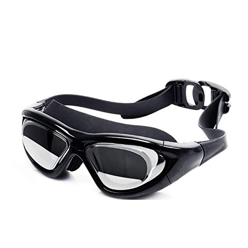 MeterMall Sporting Goods Unisex Electroplated Goggles HD Waterproof Fog-Proof Diving Swimming Glasses Electroplated Black