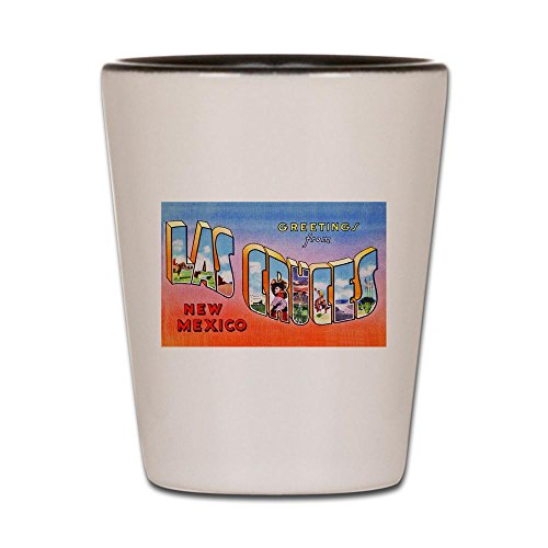 CafePress - Las Cruces New Mexico Greetings Shot Glass - Shot Glass, Unique and Funny Shot Glass]()