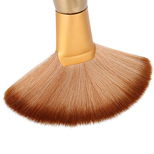 Neck Duster, Soft Large Fan-shaped Salon Stylist Barber Hair Cutting Neck Face Duster Sweep Brush Hair Styling Tools for Professional and Personal Use
