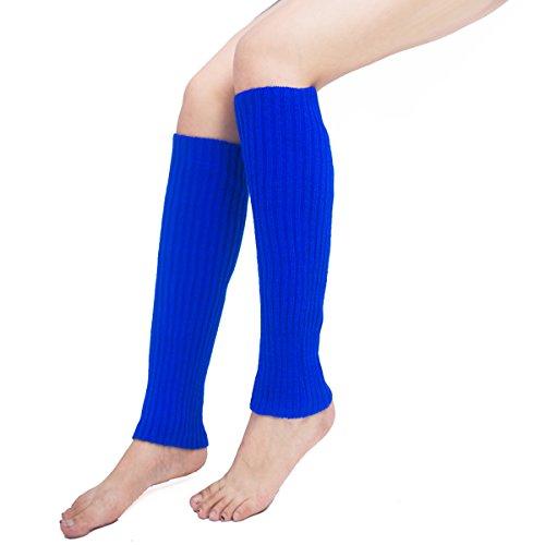 Leg Warmers,Unisex Thigh High Stretch Knit Leg Warmers Ribbed Knit Dance Sports Leg Warmers (Royal - Knit Leg Stretch Warmers