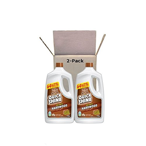 Quick Shine High Traffic Hardwood Floor Luster and Polish, 64 oz Refill Bottles, 2 Pack (Best Wood Floor Refinishing Products)