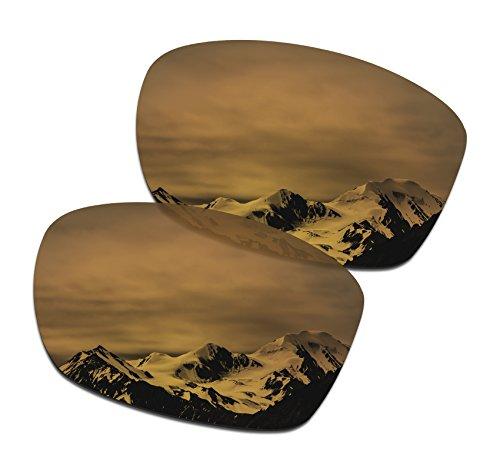 SmartVLT Men's Bronze Gold Replacement Lenses for Oakley Jupiter Squared OO9135 Sunglass (Lenses Squared Replacement Oakley Jupiter)