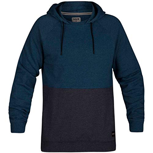 Hurley Men's Crone Blocked Pullover Blue Force Heather Large ()