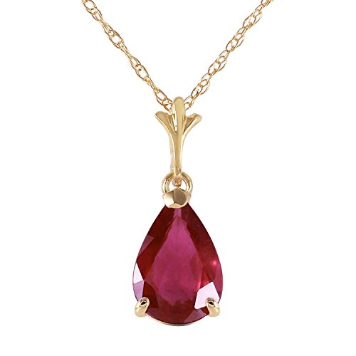 Multi Gemstone Heart Necklace - Galaxy Gold 1.75 Carat 14k 18