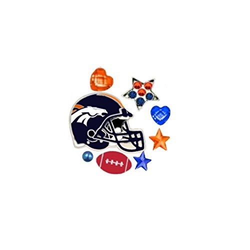 (Final Touch Gifts Denver Broncos Floating Locket Charms and Birthstones )